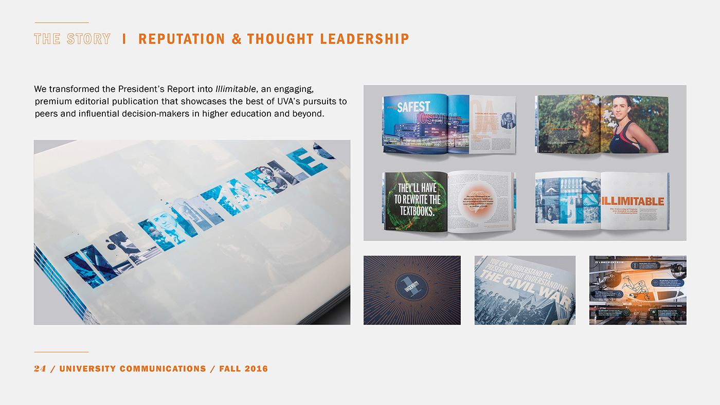 Portfolio / Building the UVA Brand | University Communications